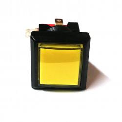 PUSH BUTTON SWITCH SQUARE W/ LIGHT YELLOW MOMENTARY