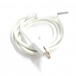 ALLIGATOR TO BANANA SILICON CABLE (WHITE)