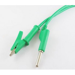 ALLIGATOR TO BANANA SILICON CABLE (GREEN)
