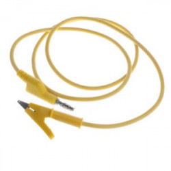 ALLIGATOR TO BANANA SILICON CABLE (YELLOW)