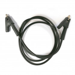 ALLIGATOR TO ALLIGATOR SILICON CABLE (BLACK)