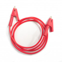 ALLIGATOR TO ALLIGATOR SILICON CABLE (RED)