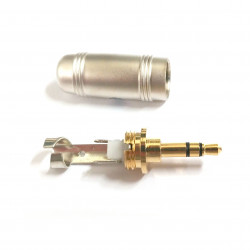 3.5MM STEREO PLUG GOLD PLATED SILVER BODY