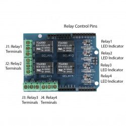 ARDUINO 4 RELAY WITH I/O SHIELD