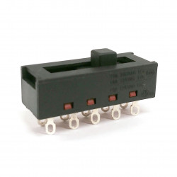 SLIDE SWITCH ON-ON-ON-ON 125VAC 16A SOLDER LUGS