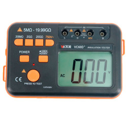 VICTOR VC60D PLUS DIGITAL INSULATION TESTER RESISTANCE METER