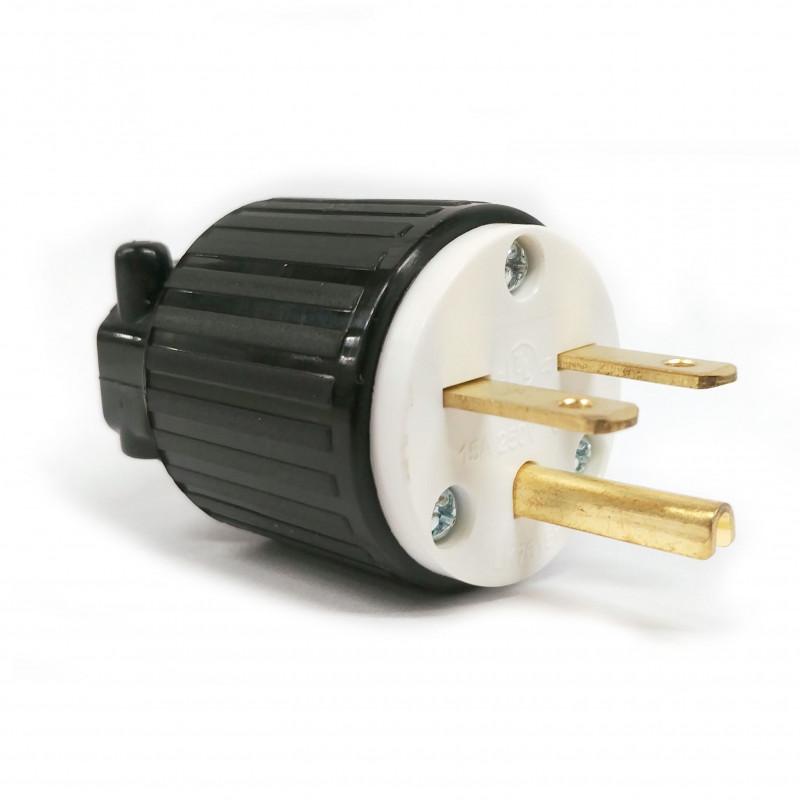 COMMERICAL GRADE POWER PLUG (M) NEMA 6-15P 250VAC 15A