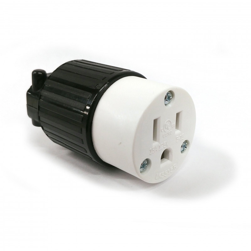 COMMERICAL GRADE POWER SOCKET (F) NEMA 5-15R 250VAC 15A