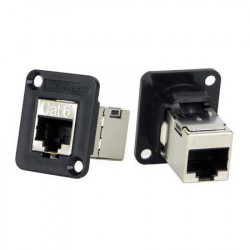 RJ45 / CAT6 EXTENSION JOINER, F/F, PANEL MOUNT
