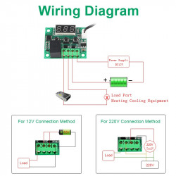 DIGITAL TEMPERATURE CONTROL KIT W/12V 10A RELAY