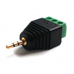2.5MM STEREO PLUG (MALE) TO 3P TERMINAL