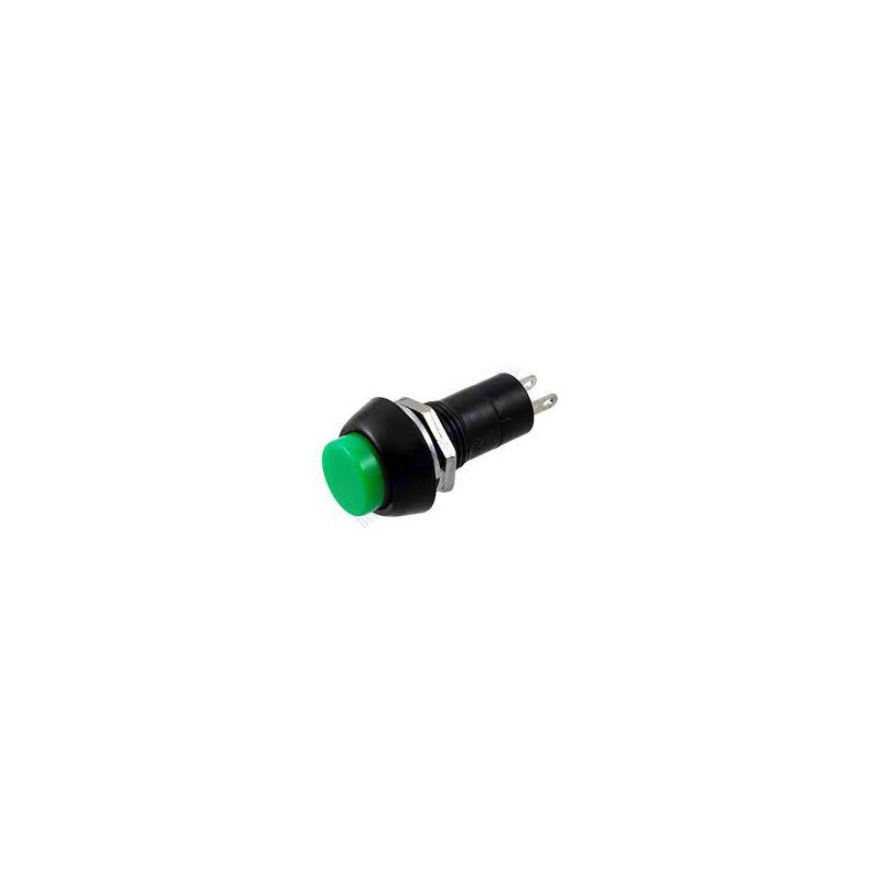 PUSH BUTTON SWITCH 2PIN OFF-ON PBS-11A (GREEN)
