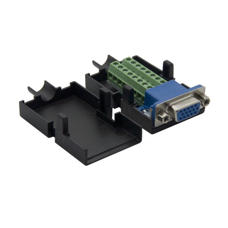 VGA SOCKET (F) DIY CONNECTOR WITH PLASTIC HOUSING