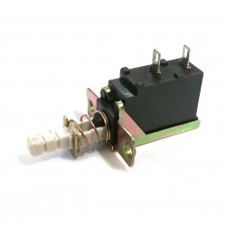 PUSH BUTTON SWITCH, LATCHING, ON-OFF, L: 4.3CM,
