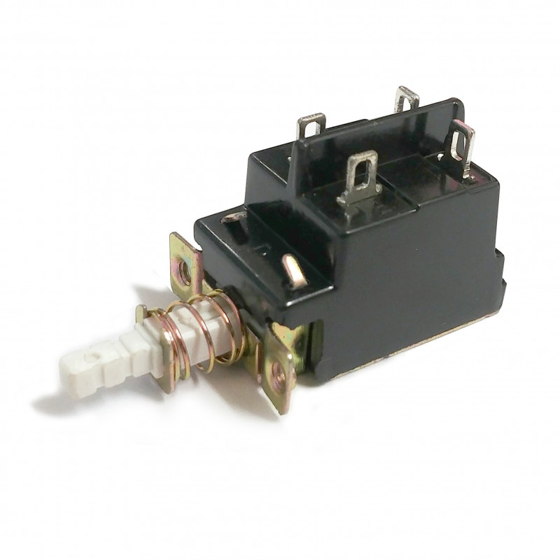 PUSH BUTTON SWITCH, LATCHING, ON-OFF, QUICK CONNECT TYPE