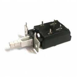 PUSH BUTTON SWITCH, LATCHING, ON-OFF, SOLDER TYPE