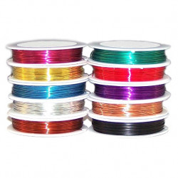 SOLDERABLE 0.5MM/22AWG COPPER WIRE (BLUE) 40METER
