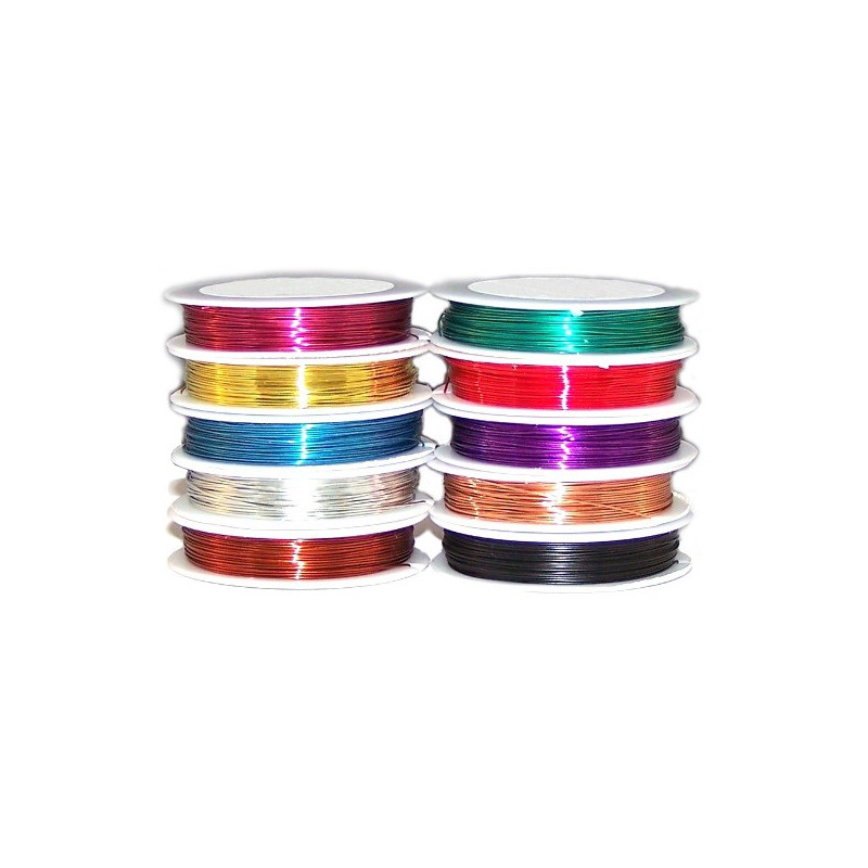 SOLDERABLE 0.5MM/22AWG COPPER WIRE (YELLOW) 40METER