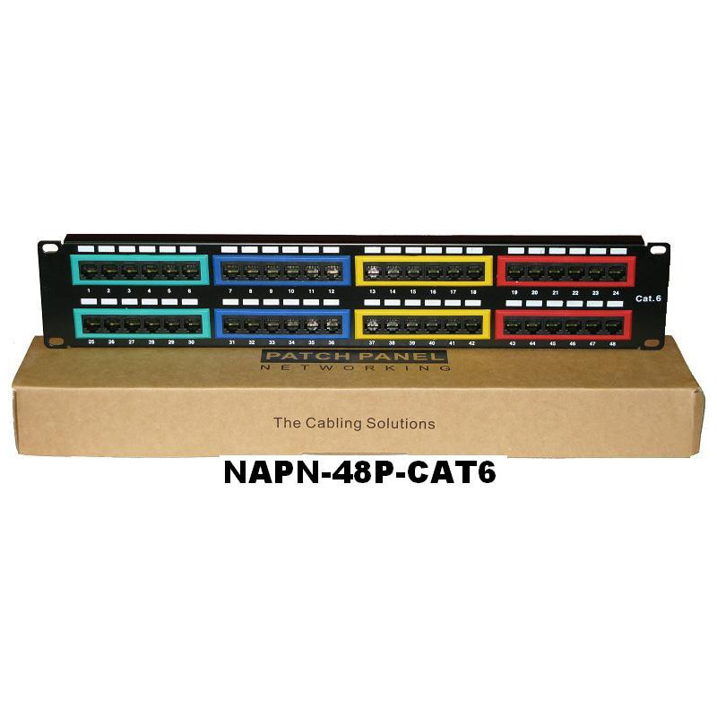 PATCH PANEL CAT6 2U 48 PORT