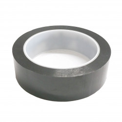 BLACK INSULATED ADHESIVE MYLAR TAPE HI-TEMP, 30MM, 66M/ROLL