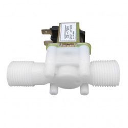 "PLASTIC WATER 12V SOLENOID VALVE 1/2"" NC"