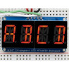 "QUAD ALPHANUMERIC DISPLAY - RED 0.54"" W/I2C BACKPACK"