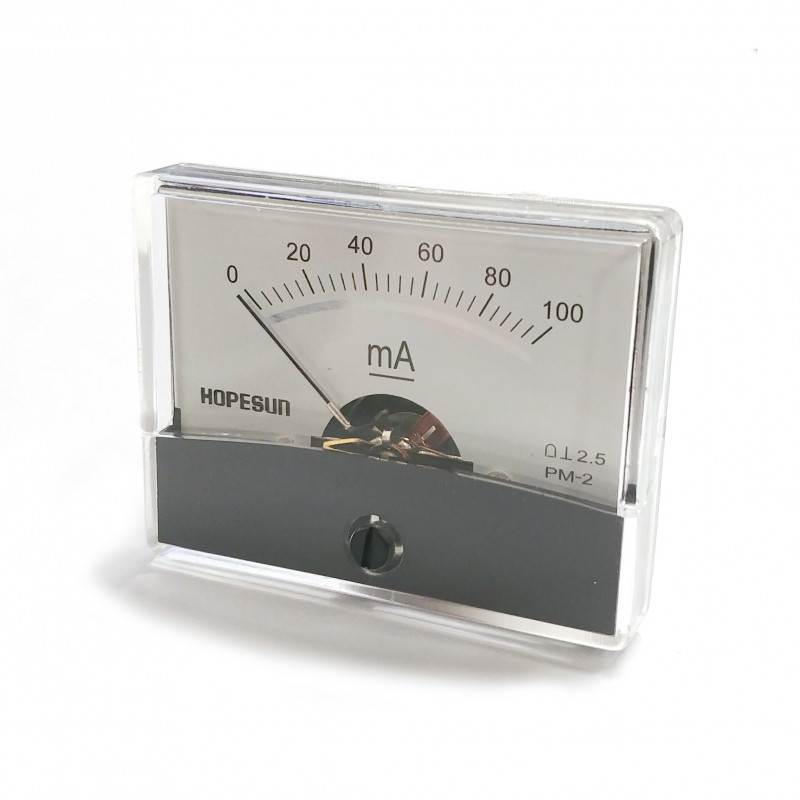 PANEL METER PM-2 100mA DC 61 X 48.25MM