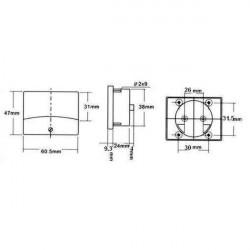 PANEL METER PM-2 150V AC 61 X 48.25MM