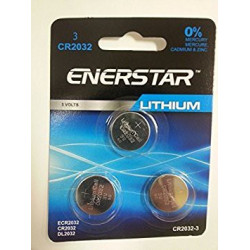 BATTERIES CR2032 3V LITHIUM 3PCS/PKG