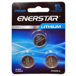 BATTERIES GP-CR2025-C5 3V LITHIUM 3PC/PKG