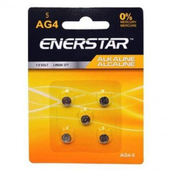 BATTERIES AG4 LR626 377 5-PACK