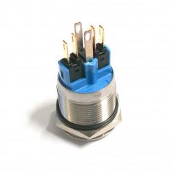 VANDAL ON/OFF PUSH BUTTON SPDT 24V BLUE LED 22X45MM