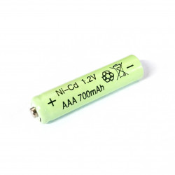 BATTERY, RECHARGABLE, AAA NiCd 1.2V 700MAH