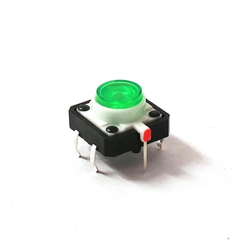 TACTILE SWITCH WITH GREEN LED