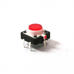 TACTILE SWITCH WITH RED LED