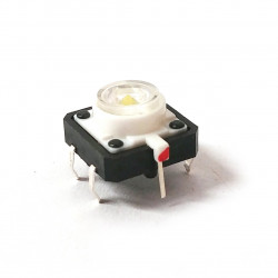 TACTILE SWITCH WITH WHITE LED