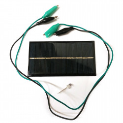 SOLAR PANEL EXPERIMENT KIT 6V 150MA W/LED & ALLIGATOR JUMPER