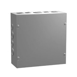 "INDOOR ELECTRICAL D BOX, 8""X8""X4"", STEEL, SCREW-ON COVER"