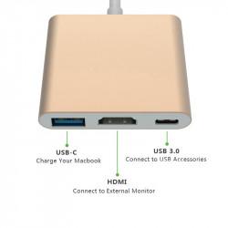 USB C TO HDMI W/ USB 3.0 CHARGING SLOT