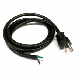 POWER CORD 3-LINE OPEN END CSA 16AWG, 5FT