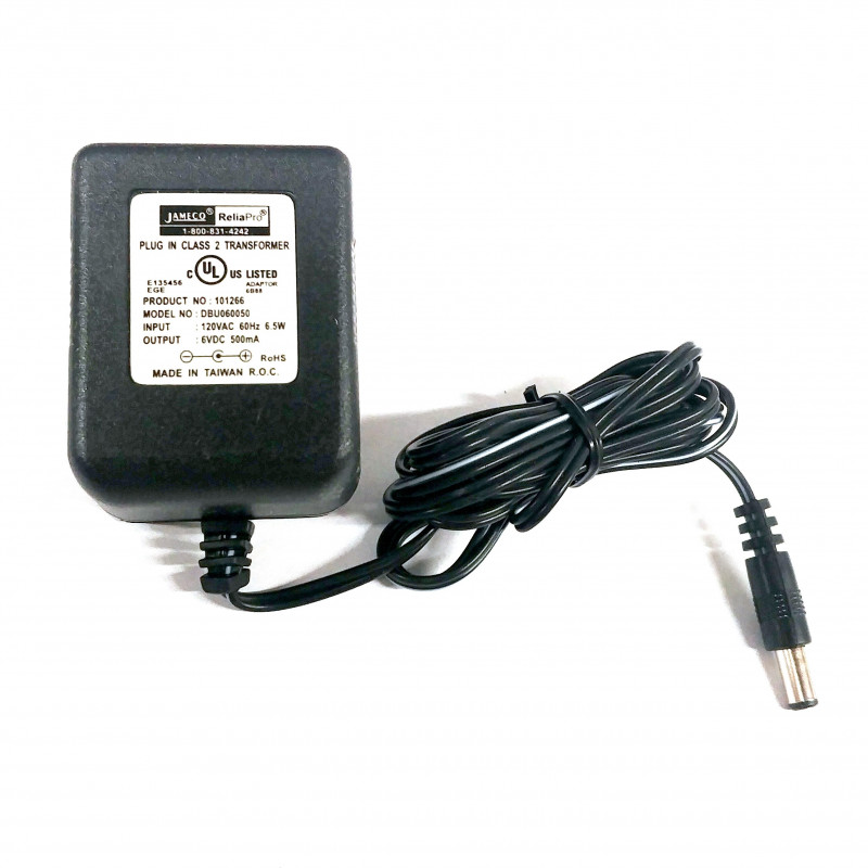 POWER ADAPTER, AC/DC, LINEAR, 6V, 500mA, CEN +
