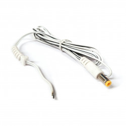 POWER CABLE 2.1MM X 5.5MM DC PLUG OPEN WIRES 4.5FT WHITE