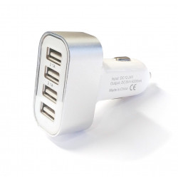 AUTO CHARGER W/4 USB PORT FOR PHONE/TABLET 6200mA