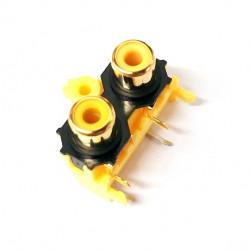 RCA DUAL PLUG PCB SIDE MOUNT