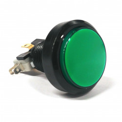 PUSH BUTTON 35MM GREEN W/MICRO SWITCH 12V LED