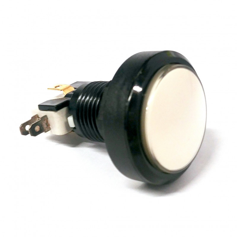 PUSH BUTTON 35MM WHITE W/MICRO SWITCH 12V LED