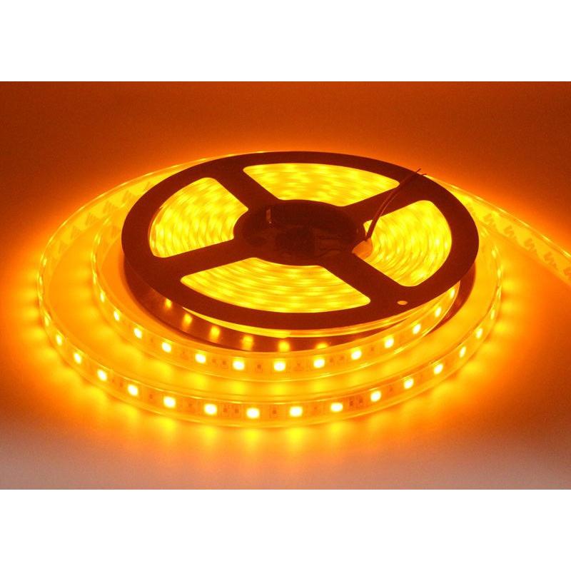 LED, STRIP, 5050, 12V W/ TUBING, ORANGE - 1M