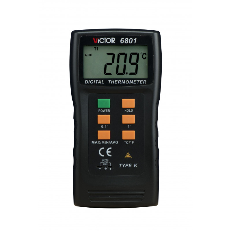 DIGITAL THERMOMETER, VICTOR 6801 (VC6801)