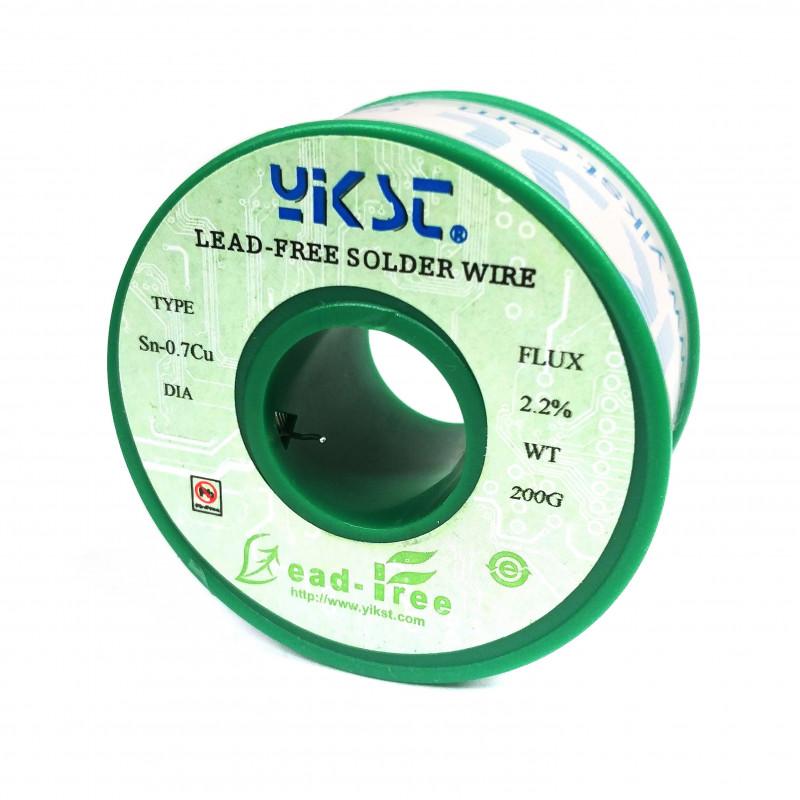 SOLDER, LEAD FREE, 1.0mm, 200g