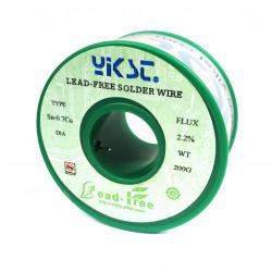 SOLDER, LEAD FREE, 0.8mm, 200g
